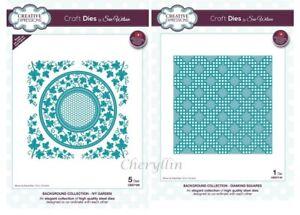 Sue Wilson Craft Dies Background Collection - Ivy Garden - Diamond Square CHOOSE