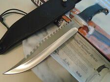 """Gil Hibben Survivor Bowie Hunter Combat Knife GH5026 7Cr17 15 1/4"""" OA Leather"""