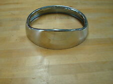 7 INCH CHROME HEADLIGHT RING WITH BUILT IN VISOR 1960 - 2013 HARLEY TOURING