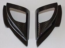 Mitsubishi Lancer Evo X Tweeter Speaker Covers (Front Doors) - 100% Carbon Fiber