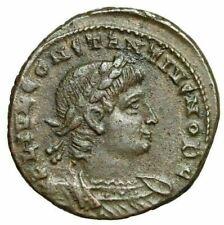 """Constantius II Caesar """"GLORIA EXERCITVS Soldiers"""" Alexandria RIC 67 Rare gVF"""