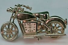 Chromed Metal Motorcycle Clock. GTC