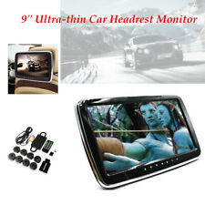 "9"" Car Headrest Monitor MP5 Player Mirror Link FM HD Screen Karaoke function"