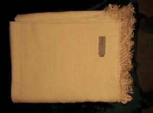 SFerra Luxery Throw Blanket Buttercup Yellow Fringe 54x62