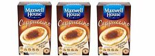 3 packs x Maxwell House Cappuccino Instant Coffee 8 Sachets 108g