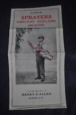 SPRUZZATORI IN AZIONE: Barrel POMPE-Secchio POMPE & abiti da Henry & Allen Auburn
