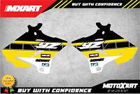 BOUND style Radiator stickers to fit Yamaha YZ 250 2015 - 2020 decals