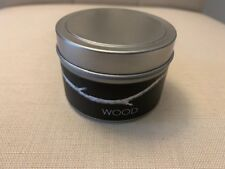 Wood  Natural Elements Candle Aluminate Life by LL Silver Metal Travel tin