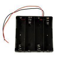 1Pcs Spring Clip Battery Storage Box Holder with Lead Wire for 2 x 18650 Battery