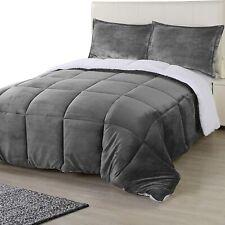 All Season Reversible Fleece Sherpa Comforter Set  Utopia Bedding