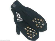 Volcom Gloves U Can Dance If U Wannu Black Knit Mittens New! NWT
