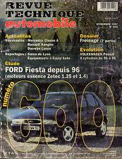 RTA revue technique automobile N°600 FORD FIESTA
