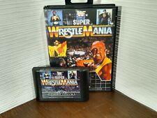 Super WrestleMania SEGA Mega Drive - Tested - Fast Free Post