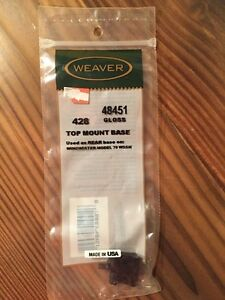 New Weaver Top Mount Base #428 - Winchester - 48451 Gloss