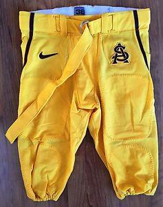 Nike Arizona State University Team Issued Football Pants-Gold & Maroon-NWOT