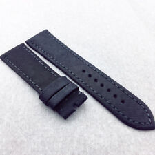 23mm 120/80mm Black Carbon Fibre Calf Leather Band Strap For BP JB Blan cpain