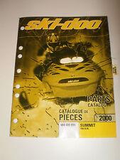 SKIDOO  PARTS CATALOG  MANUAL 2000 SUMMIT 800 H.M.