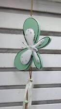 Schmetterling zum Aufhängen Holz Metall Punkte türkis Shabby Landhaus Türdeko