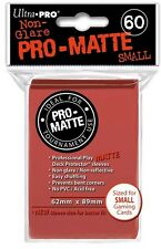10x PACKS of Yugioh, Small sized PRO-MATTE Ultra-Pro RED Card Sleeves 60ct NEW!