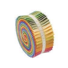 "Kaufman Kona Cotton Solids NEW DUSTY Roll Up 2.5"" Fabric Strips Jelly RU-229-41"