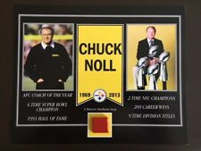 CHUCK NOLL PITTSBURGH STEELERS 3 RIVERS STADIUM SEAT 8 X 10 COA