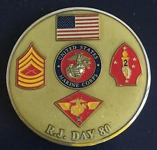 United States Marine Corps R.J. Day Challenge Coin Medal
