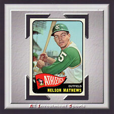 1965 Topps NELSON MATHEWS #87 NM-MT *awesome card for your set* SD1a