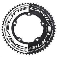 Driveline AL7075 Road Bike Bicycle TT Chainring 58T, BCD 130mm , Black x White