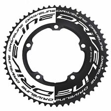 Driveline AL7075 Road Bike Bicycle TT Chainring 58T, BCD 130mm , Black x White