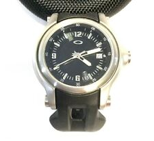 MEN'S OAKLEY HOLESHOT WATCH Stainless Case w/ Black Dial and Unobtanium Band