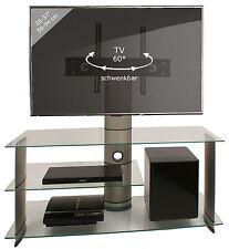 VCM TV-Rack Lowboard Konsole Fernsehtisch TV Möbel Bank Glastisch Tisch