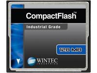 Wintec 128MB Compact Flash (CF) Card Industrial Grade SLC Nand Black Model 33100