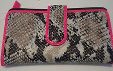 Mundi Ladies Vegas Python Wallet,Pink