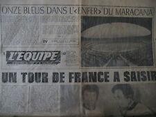 FOOTBALL FRANCE BRESIL MARACANA TOUR DE FRANCE THEVENET MERCKX L'EQUIPE 1977