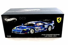 FERRARI F40 COMPETIZIONE 1995 LEMAN PILOT #34 HOT WHEELS ELITE 1/43 DIECAST CAR