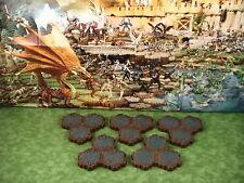 Rock 3-Hex Tile X5 Heroscape Terrain