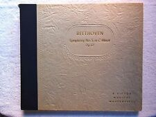 Beethoven Symphony No 5, in C Minor Op 67 Album Book Set of 5 Records 12 inches