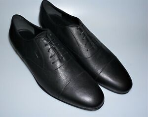 GUCCI Mens Black Pebbled Leather Lace Up Dress Shoes 15.5 (14.5 Gucci)