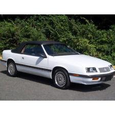 Fits: 1987-1995 Chrysler Lebaron, Convertible Top, Black Haartz Pinpoint