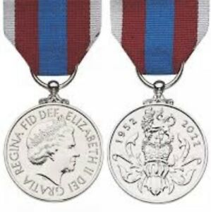 Platinum Jubilee Medal Miniature Pre Order. Supply Only Unmounted