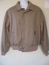 Members Only Full Zip Tan Khaki Classic Jacket Sz 46 By Europe Craft Vintage