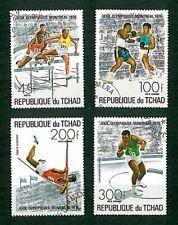 francobolli sport Olimpiadi 4v Ciad timbrati
