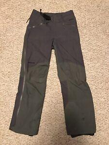 [Excellent] Mens Small Patagonia Goretex Hardshell Goretex Green/Gray Ski Pants