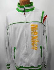 Mexico Mens XL Soccer Football White Warm-Up Jacket #10 Celebrity by Design