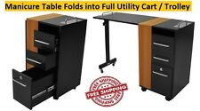 Manicure Table Versatile Foldable Cart Trolley Nail Salon Furniture Taylor