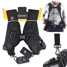Professional Black Quick Rapid Double Shoulder Camera Strap Neck Sling Belt