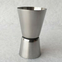 Silver Stainless Steel Double Single Shot Measure Jigger Bar Cocktail Drink Cup