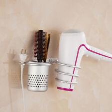 Hair Dryer Holder Organizer Wall Mount Blow Dryer Hanging Rack Spiral with Cu*ws