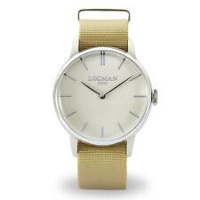 LOCMAN orologio uomo solo tempo collezione La doce vita 1960 cinturino nylon