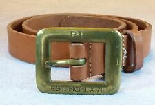 Vintage Ralph Lauren RL EST 1967 anniversary Belt Black Sz 32 Made In USA Brass